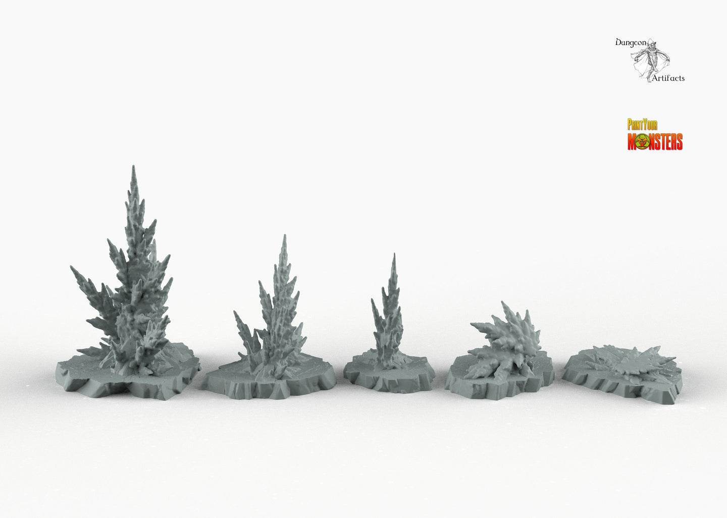 Ancient Desert Baryte - Print Your Monsters Fantastic Plants and Rocks Resin Terrain Wargaming D&D DnD Pathfinder Warhammer