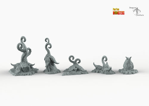 Alien Tentacle Plants - Print Your Monsters Fantastic Plants and Rocks Resin Terrain Wargaming D&D DnD Pathfinder Warhammer