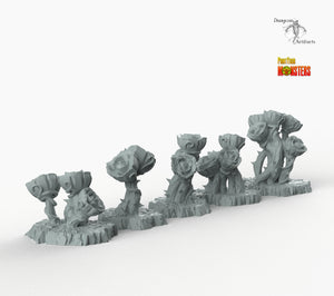 Giant Mystic Roses - Print Your Monsters Fantastic Plants and Rocks Resin Terrain Wargaming D&D DnD Pathfinder Warhammer