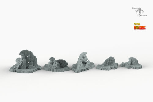 Icy Coral - Print Your Monsters Fantastic Plants and Rocks Resin Terrain Wargaming D&D DnD Pathfinder Warhammer