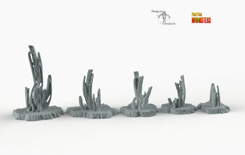 Martian Stalagmites - Print Your Monsters Fantastic Plants and Rocks Resin Terrain Wargaming D&D DnD Pathfinder Warhammer