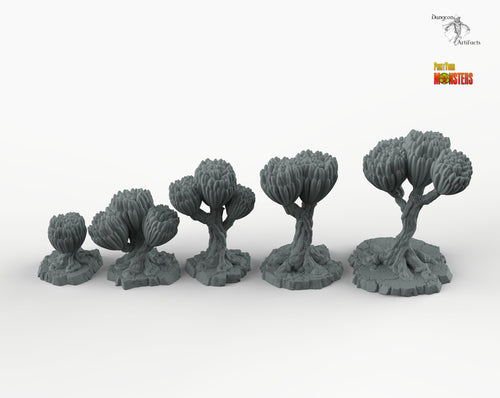 Sci-fi Unknown Flowers - Print Your Monsters Fantastic Plants Rocks Resin Terrain Wargaming D&D DnD Pathfinder Scifi