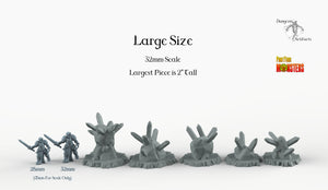 Trap Rocks - Print Your Monsters Fantastic Plants and Rocks Resin Terrain Wargaming D&D DnD Pathfinder Warhammer