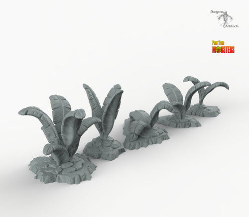 Tropical Leaves - Print Your Monsters Fantastic Plants and Rocks Resin Terrain Wargaming D&D DnD Pathfinder Warhammer