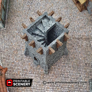 Port Winterdale Watchtower - Shadowfey Wilds 15mm 28mm 32mm Wargaming Terrain D&D, DnD Pathfinder SW Legion Warhammer 40k