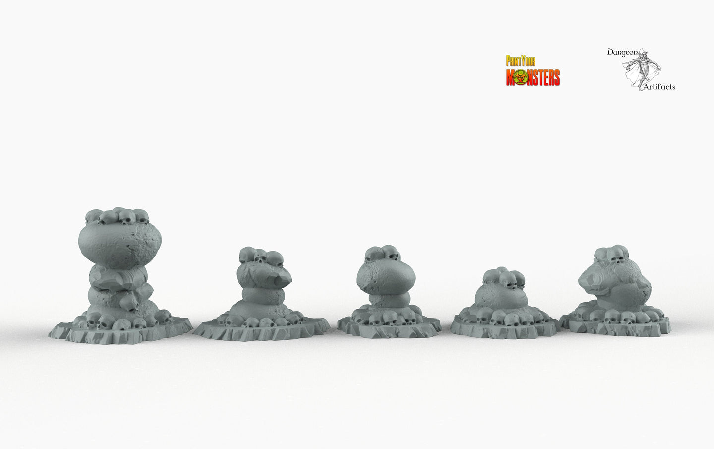 Ancient Cannibal Stones - Print Your Monsters Fantastic Plants and Rocks Resin Terrain Wargaming D&D DnD Pathfinder Warhammer