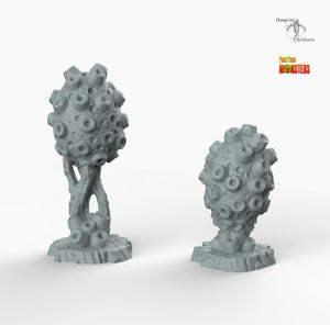 Poisonous Sponge Plants - Print Your Monsters Fantastic Plants and Rocks Resin Terrain Wargaming D&D DnD Pathfinder Warhammer