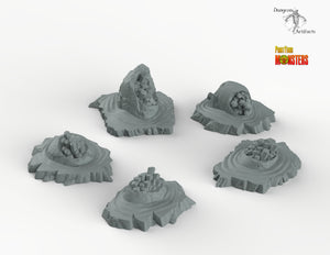 Ruins of Crystal Dragon Eggs - Print Your Monsters Fantastic Plants and Rocks Terrain Wargaming D&D DnD Pathfinder Warhammer