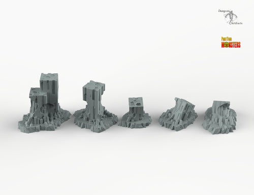 Sci-fi Ruins - Scifi Print Your Monsters Fantastic Plants and Rocks Resin Terrain Wargaming D&D DnD Pathfinder Warhammer