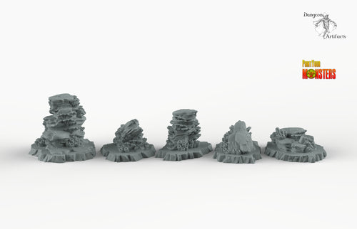 Underwater Coral - Print Your Monsters Fantastic Plants and Rocks Resin Terrain Wargaming D&D DnD Pathfinder Warhammer
