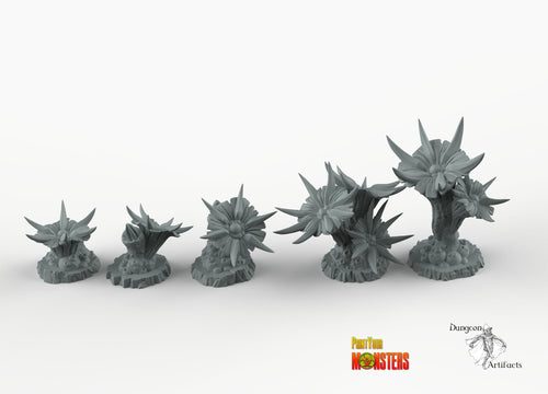 Venemous Flowers - Print Your Monsters Fantastic Plants and Rocks Resin Terrain Wargaming D&D DnD Pathfinder Warhammer