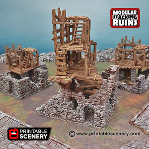 Rickety Lodgings - Shadowfey Wilds 15mm 28mm 32mm Wargaming Terrain D&D, DnD Pathfinder SW Legion Warhammer 40k
