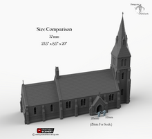 Load image into Gallery viewer, Medieval Church - 15mm 28mm 32mm 37mm Time Warp Wargaming Terrain Scatter D&D, DnD, Pathfinder, Warhammer, 40k