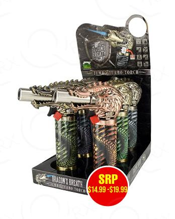 Dragon Breath Jumbo Torch - 6 Unit Display