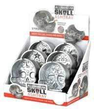 Aluminum Skull Ashtray - 6 Unit Display Smoke/Vape Shop Quikfillrx
