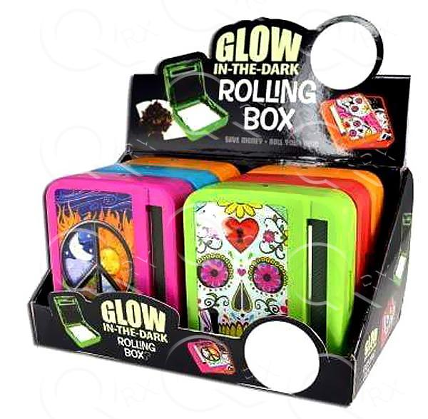 Glow In The Dark Rolling Box - 6 Unit Display Smoke/Vape Shop Quikfillrx