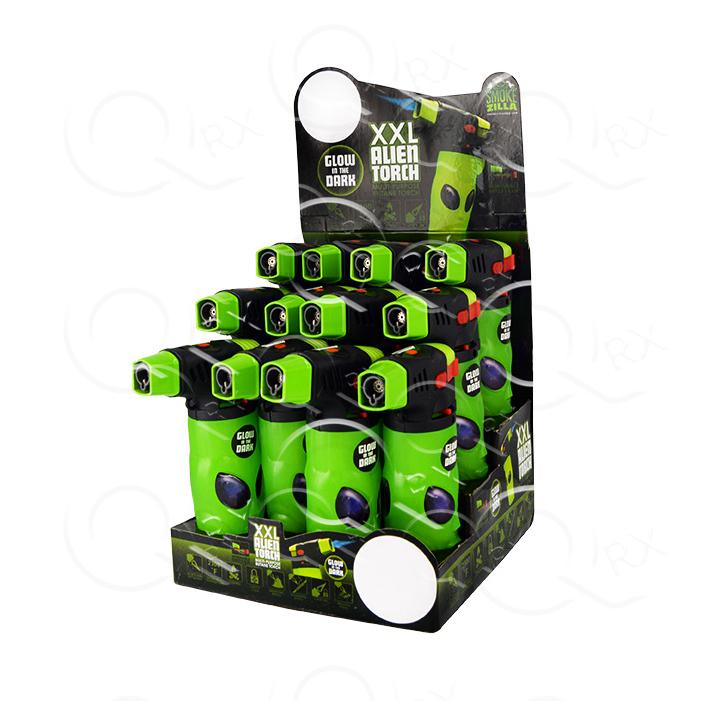 3D Alien XXL Torch Lighter - 12 Unit Display