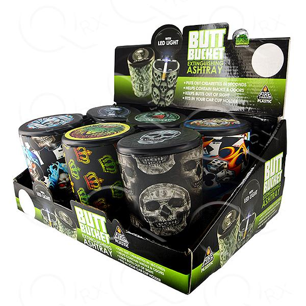 Butt Bucket Concealed FRP Mix A - 6 Unit Display Smoke/Vape Shop Quikfillrx