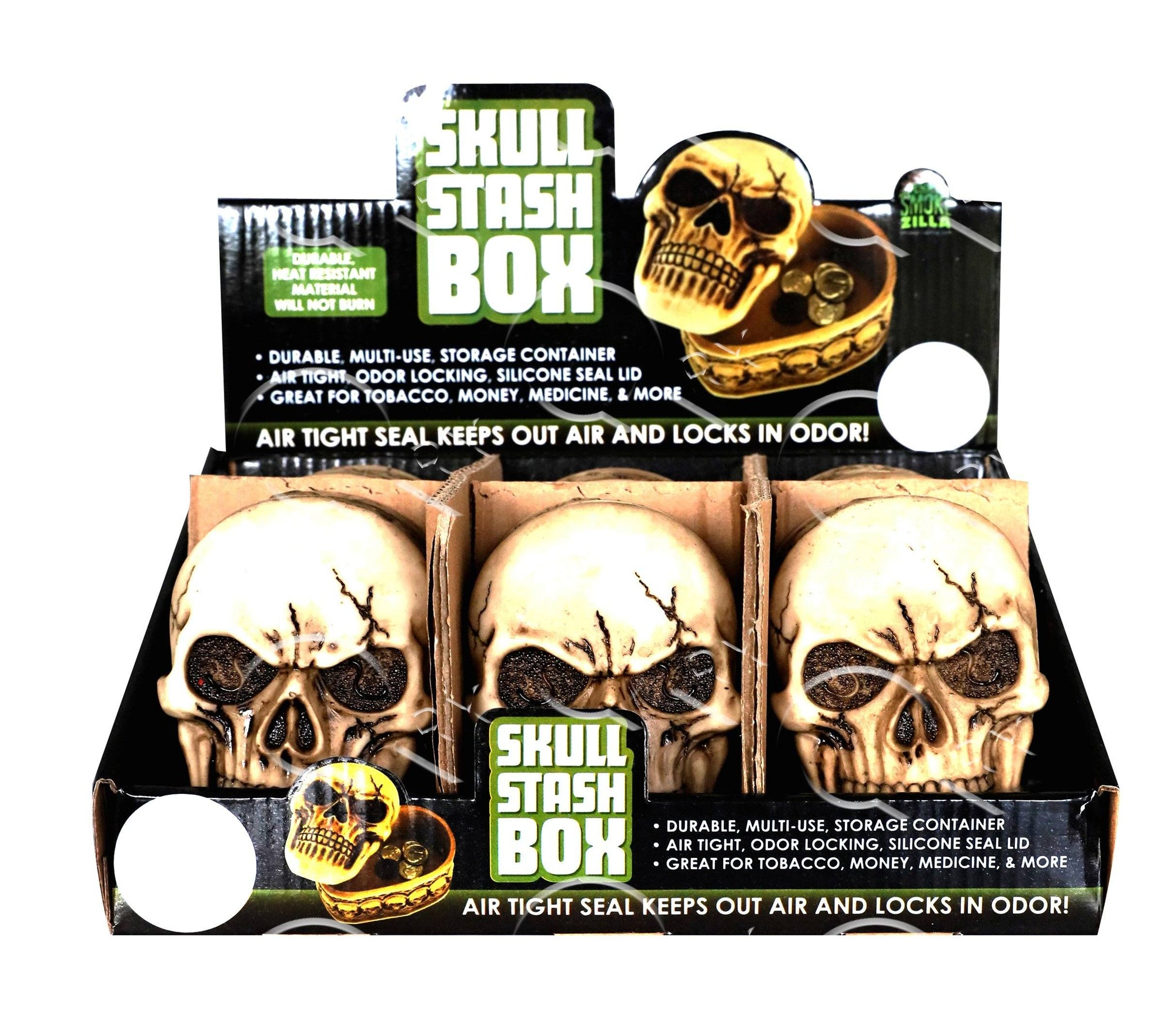 Skull Stash Box- 6 Unit Display