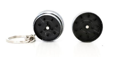 Mini Metal Key Chain Grinder - 12 Unit Display Smoke/Vape Shop Quikfillrx