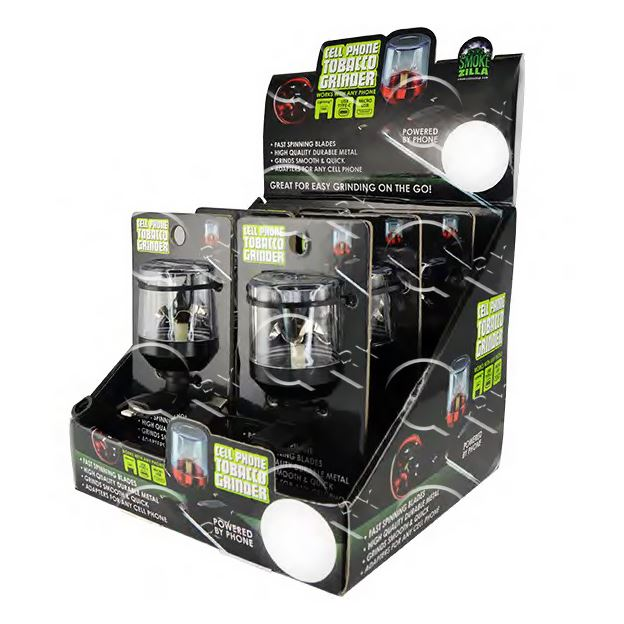 Cell Phone Grinder - 6 Unit Display Smoke/Vape Shop Quikfillrx