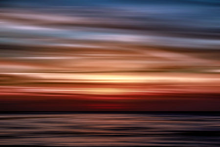 Ocean Sunset Abstract, interior decor, modern art, contemporary art
