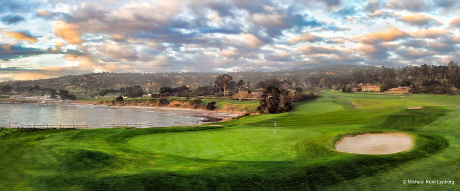 Pebble Beach 6th Panorama - Gallery-by-the-Sea Carmel