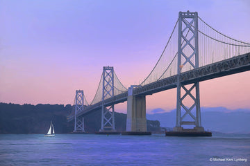 San Francisco Bay Bridge Bay Bridge Sunset - Gallery-by-the-Sea Carmel
