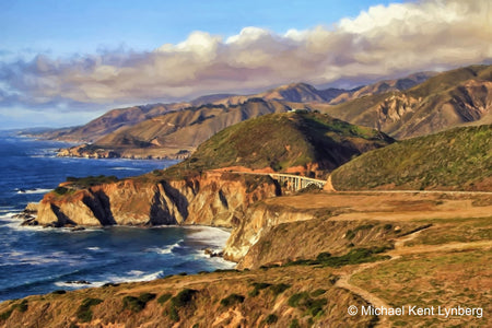 Bixby Bridge Fall Day - Gallery-by-the-Sea Carmel