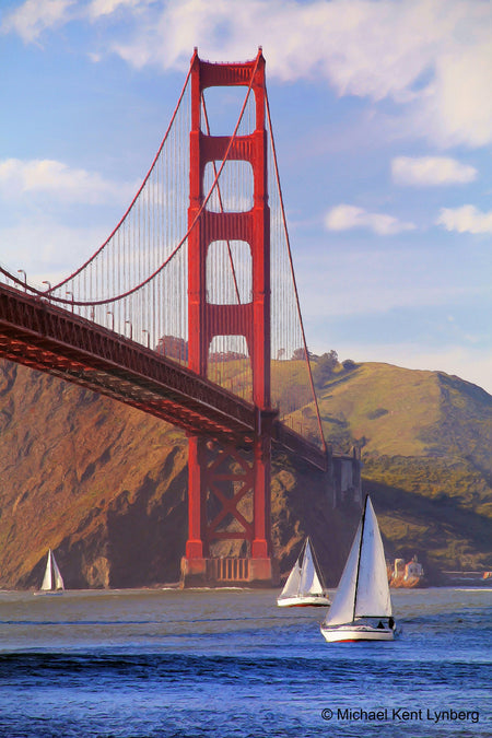 Golden Gate Sailboats - Gallery-by-the-Sea Carmel