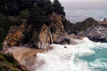 McWay Falls Cloudy Day - Gallery-by-the-Sea Carmel