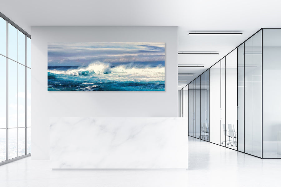 Restless Sea Panorama - Gallery-by-the-Sea Carmel