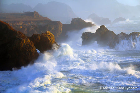 Art Big Sur Winter Waves - Gallery-by-the-Sea Carmel
