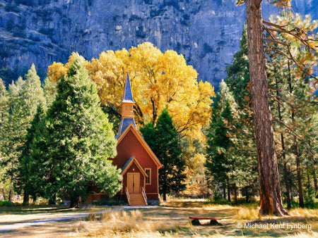 Yosemite Chapel Fall Day - Gallery-by-the-Sea Carmel