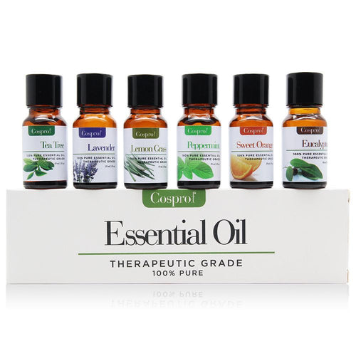 100% Pure & Natural Essential Oils - 6 in 1 Gift Set (Certified 10ml)