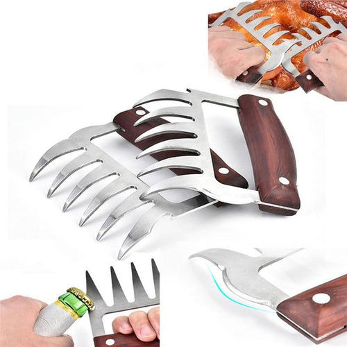 Pair Of Bear Claw Hand Meat Shredders