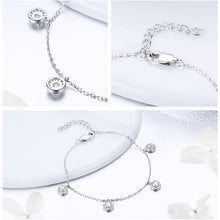 Load image into Gallery viewer, 925 Sterling Silver Round Circle Dazzling Crystal Bracelet