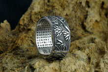Load image into Gallery viewer, Silver Bamboo Buddha Adjustable Ring For Men