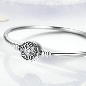 925 Sterling Silver Vintage Snake Chain Bangle