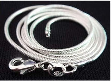 Load image into Gallery viewer, Snake Chain 1mm Silver Necklace