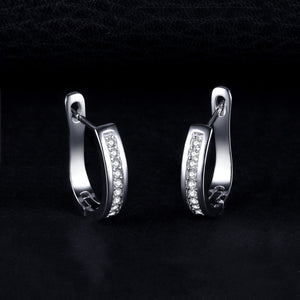 Eternity Silver Earrings
