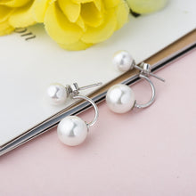 Load image into Gallery viewer, White Natural Pearl Stud Earrings