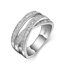 Load image into Gallery viewer, Luxury Bridal Silver Wedding/ Engagement Ring