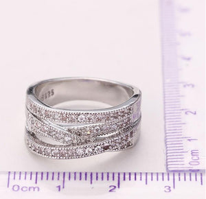 Luxury Bridal Silver Wedding/ Engagement Ring