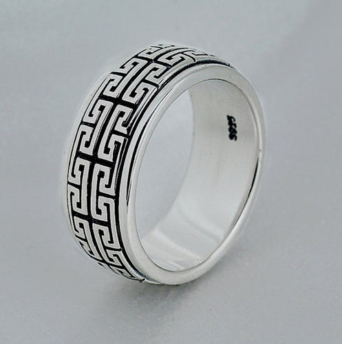 Silver Great Wall Ring For Men