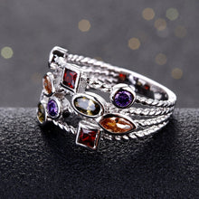 Load image into Gallery viewer, Vintage Gemstone Sterling Silver Ring