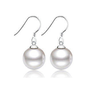 Pearl Earrings - Sterling Silver White Pearl