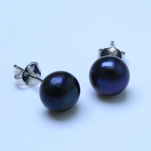 Genuine Freshwater Pearl Silver Stud Earrings