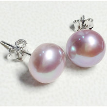 Load image into Gallery viewer, Genuine Freshwater Pearl Silver Stud Earrings