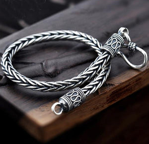 Silver Snake Chain Bracelet For Men